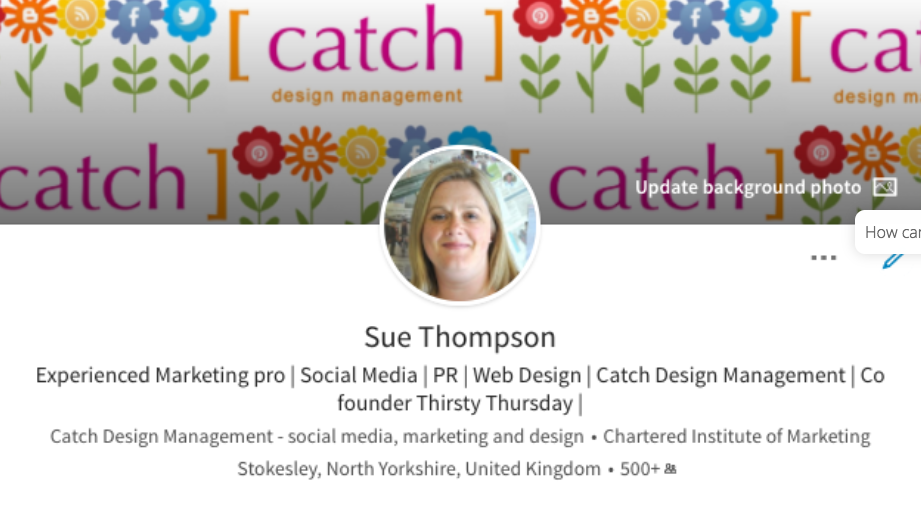 Catch Designs, Stokesley, Sue Thompson, Meeting, Digital Marketing, Social Media, LinkedIn, Web Design, Graphic Design