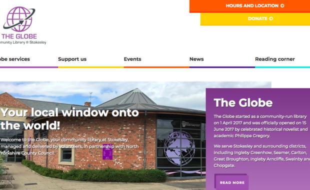 Stokesley, The Globe Library, Website design