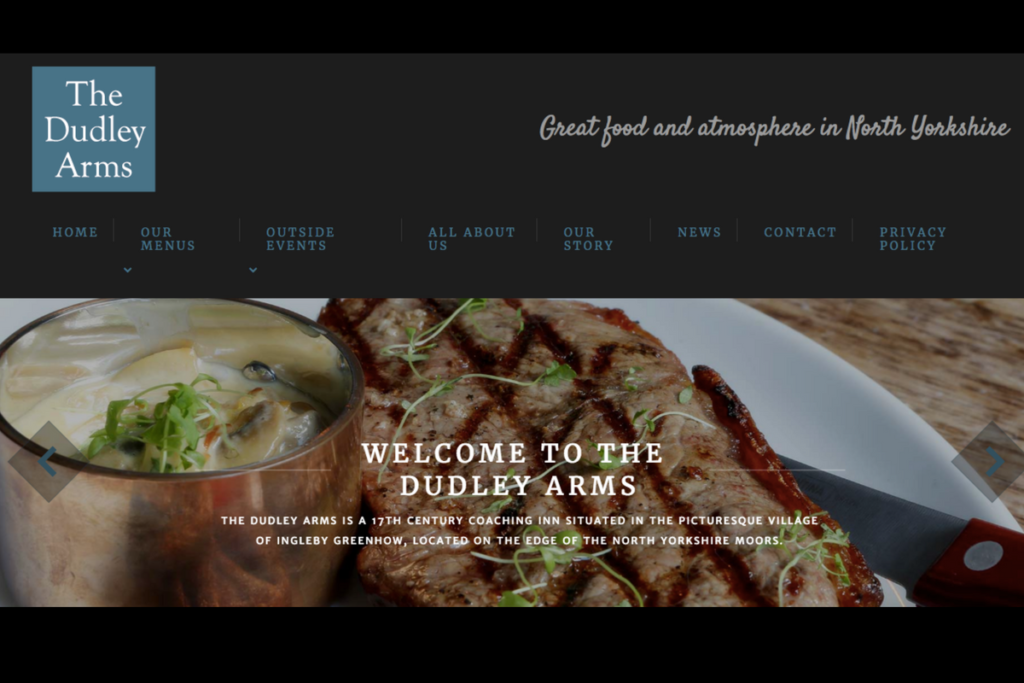 Website, Dudley Arms, Catch Designs