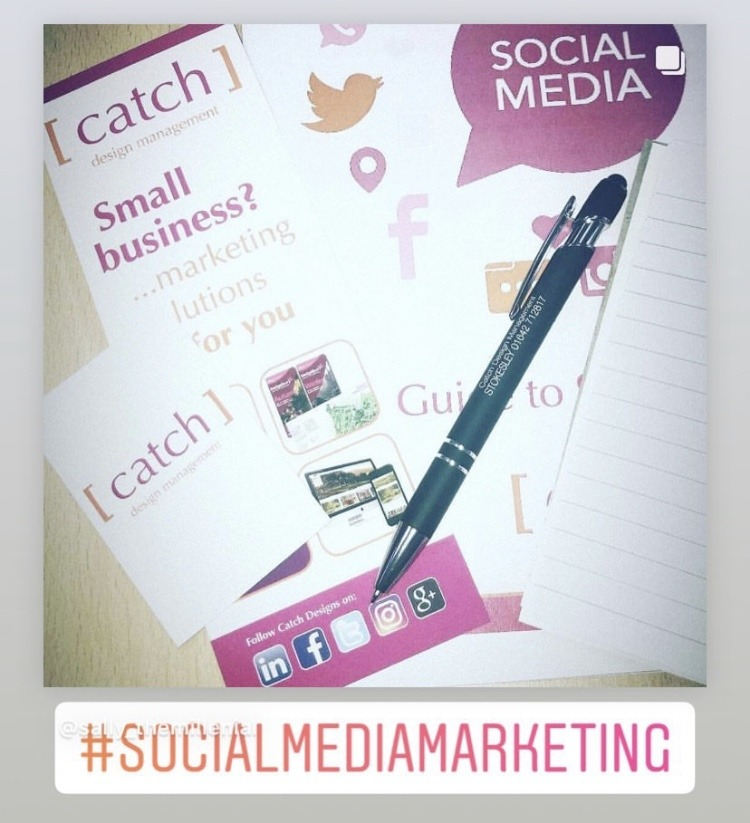training, social media, Catch Designs